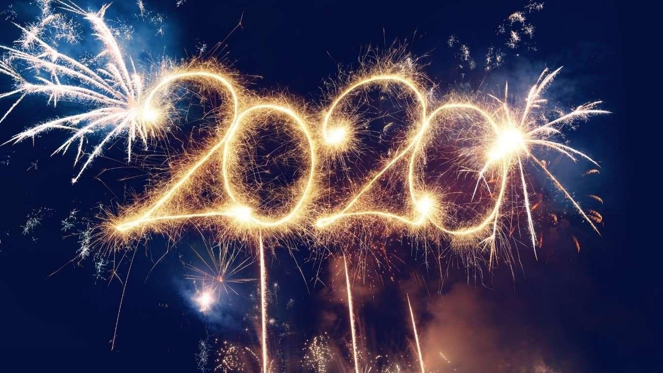 Jaar 2020 in vuurwerk